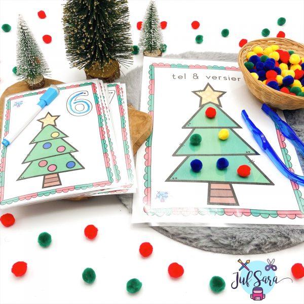 Kerstballen tellen - Juf Sara